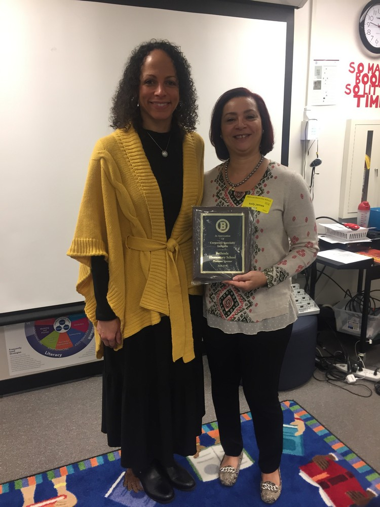 Bethesda Elementary Recognitizes Kelly