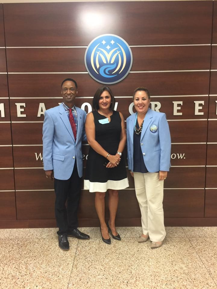 Elena Lopez of McGuireWoods Law Firm Tours Meadowcreek High School