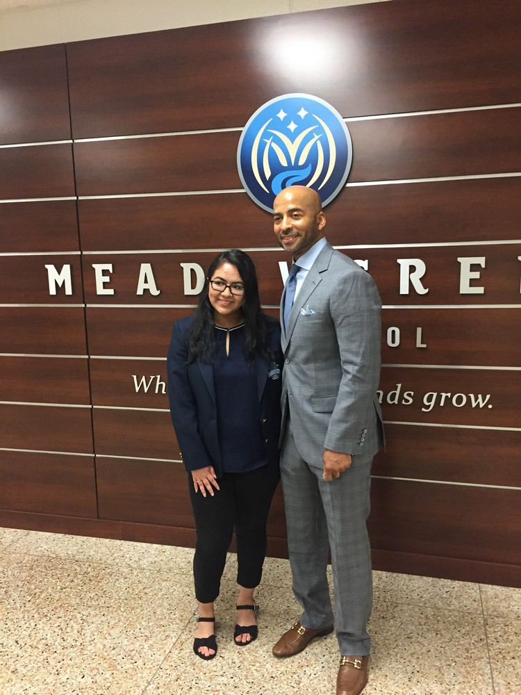 Goodwill CEO visits Meadowcreek High School
