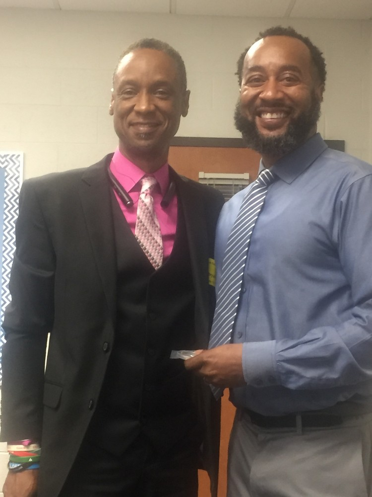 Graves Elementary Principal Clayborn Knight Recognizes Bryan