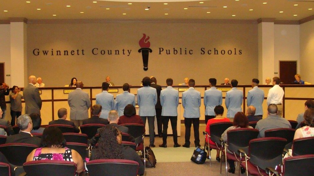 Gwinnett County Board of Education Recognizes Meadowcreek High School State Soccer Champions